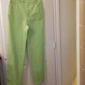 Escada Vintage Jeans, Unworn, Lime Green 28